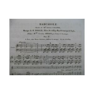 Menschheit-P-Barkarole-Chant-Piano-ca1840-Partitur-sheet-music-score