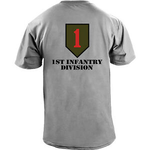 13d033fda00 US Army 1st Infantry Division Big Red One Veteran Full Color T-Shirt ...