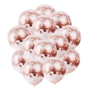 10-PCS-LOT-Or-Rose-Confettis-Latex-Ballons-Helium-Anniversaire-Mariage-Fete-Decoration