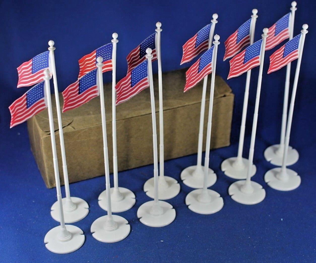 Plasticville - O-O27 - FP-5 - Flagpole (12) Dealer Box - Complete - EXCELLENT