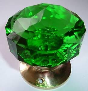 Verde pomelli porta mortasa maniglia grande tagliare il vetro coppia ottone ebay - Tagliare vetro finestra ...