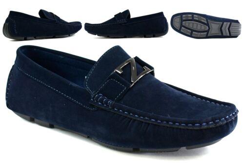 NEW Infants//Boys Slip On Loafer Moccasins Flat Smart Buckle Square Boat Shoe UK