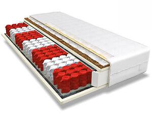matratze 180x200 max kokos h3 h4 7 zonen kokos taschenfederkern top ebay. Black Bedroom Furniture Sets. Home Design Ideas