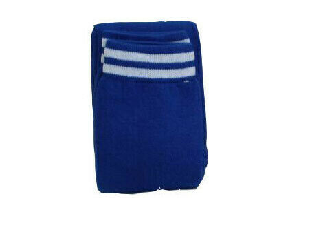 Boys Kids Junior Training Football Sport 2 Stripes Socks Blue Red White Sock New