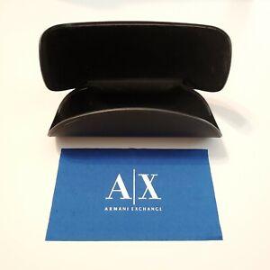 Armani-Exchange-Sunglasses-Eyewear-Case-Hardshell-Black-Plastic-Microfiber-Cloth