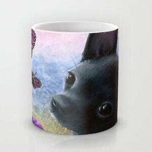 Coffee-Mug-Cup-11oz-or-15oz-Made-in-USA-Dog-91-Chihuahua-Butterfly-art-L-Dumas