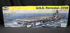 NEW 1989 SEALED REVELL 1/542 USS FORRESTAL CV59 AIRCRAFT CARRIER MODEL 5022