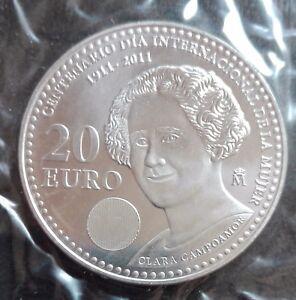 Espana-moneda-de-plata-ano-2011-S-C-Valor-20-dia-de-la-mujer-Envio-certificad