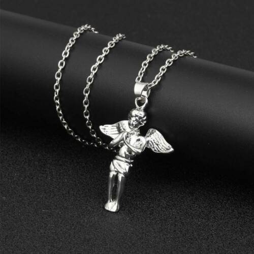Fashion Hiphop Men/'s Necklace Little Angel Pendant Wing Necklace Jewelry