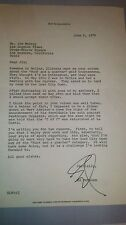 ED MCMAHON JOHNNY CARSON Side kick signed Letter  1975