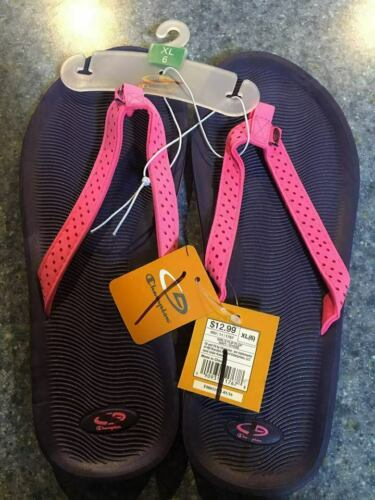 Champion Girls Sandals Flip Flop Purple//Pink Size 6 XL N//W//T