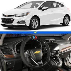 For-Chevrolet-Cruze-Car-Steering-Wheel-Cover-15-034-38cm-Black-Carbon-Fiber-Leather