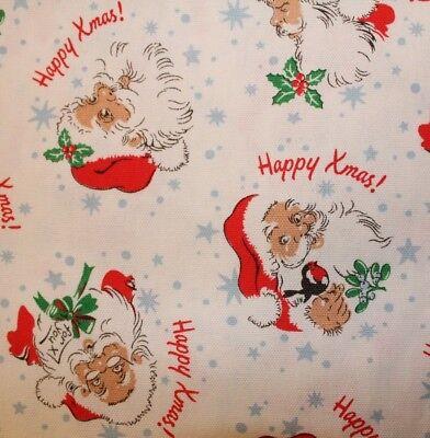 Cath Kidston Blue London Christmas Fabric Cotton Duck