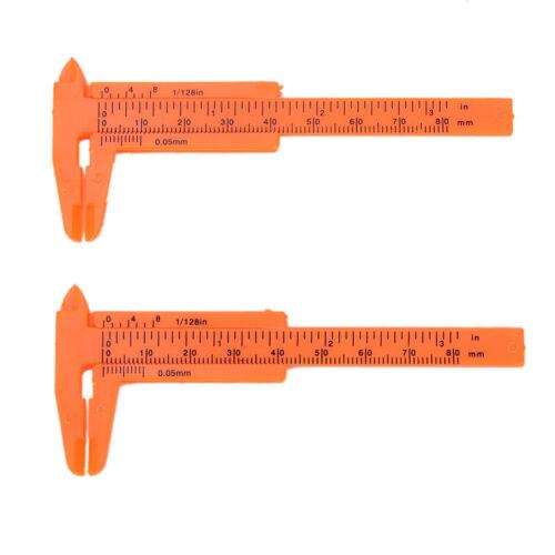 New 1Pc Mini Plastic Ruler Sliding 80mm Vernier Caliper Gauge Measure  ToolBLJH