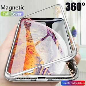 For-iPhone-11-Pro-Max-XS-XR-8-Magnetic-Adsorption-Double-Sided-Glass-Case-Cover