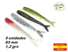 5 x Muestras silicona Señuelos pesca en Río Mar Pantano Lago Vinilos...