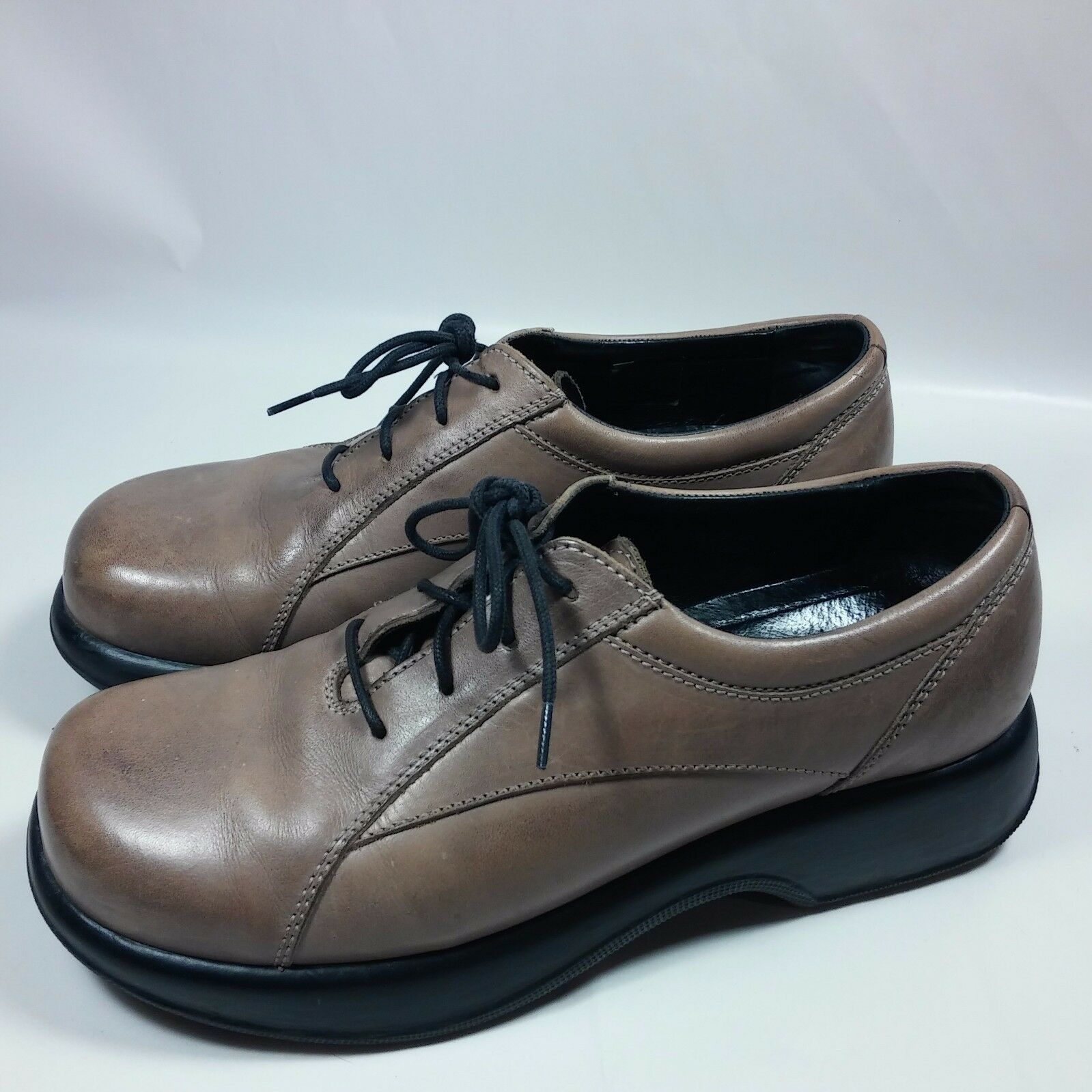 Women's Dansko Brown Oxfords Leather shoes Comfort Walking-EU 41-US 10.5 11