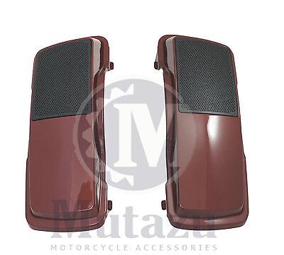 "Mutazu Black Cherry 6x9/"" Speaker Lids for Harley Davidson Touring Models FLH FLT"