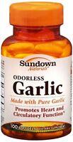 Sundown Naturals Odorless Garlic Softgels 100 Soft Gels (pack Of 2) on sale