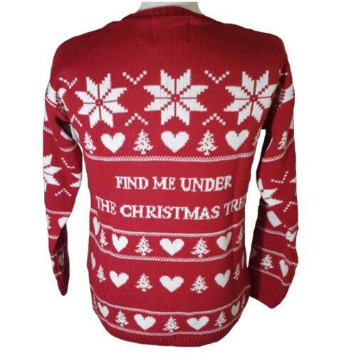 Unisex Women/'s Men/'s Naughty Rude Novelty Christmas Jumper Xmas Pullover Sweater