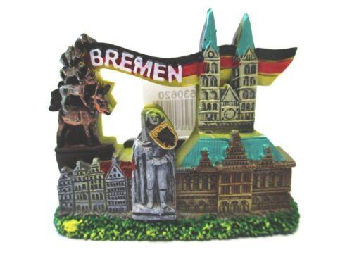 Bremen Roland Stadtmusikanten Rathaus Magnet Souvenir Germany,Neu