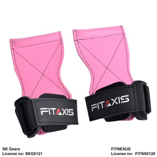 FITAXIS-Gel Pad hooks Weightlifting,deadlift wrist straps support Hand Grip Palm