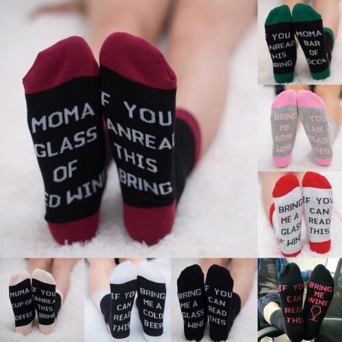 Frauen Männer UnisexAnkle Brief gedruckt Socken Weihnachten Patchwork Socken