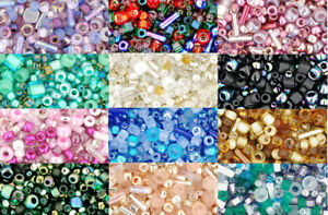 10g-Toho-Seed-Bead-Mix-Various-Colours-and-Shapes-UK