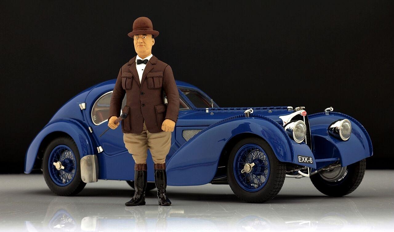 Ettore Bugatti figure for 1 18 Cmc 57SC Corse  T35 très rare  vente en ligne