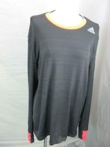 ADIDAS-SIZE-L-MENS-BLACK-ATHLETIC-SUPERNOVA-CLIMACOOL-RUNNING-TOP-T396
