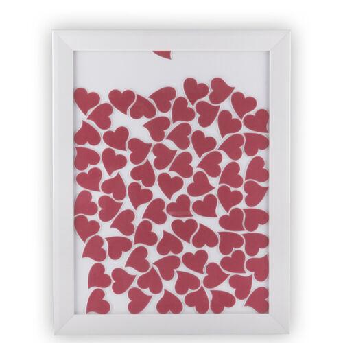Gästebuch Bilderrahmen 30x40cm Hochzeit Geschenk Herzen Herzchen viele Farben