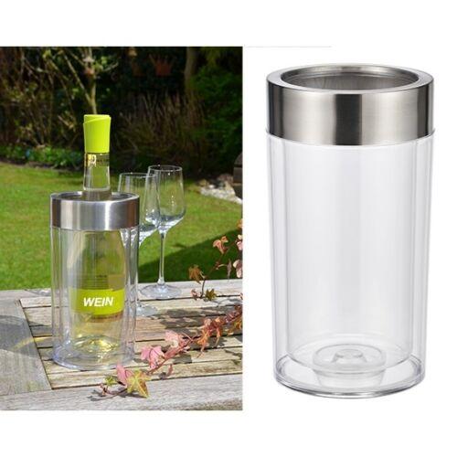 Doppelwandiger Getränkekühler Weinkühler Kühler aus Kunststoff mit Edelstahlring