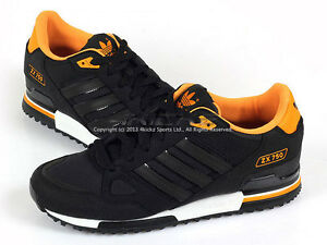 0838e4da6 ... schuhe black black joyora ... La foto se está cargando Adidas-ZX-750-Negro-Negro-Naranja  ...