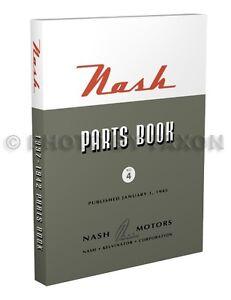 Nash-Illustrated-Parts-Book-1937-1938-1939-1940-1941-1942-Ambassador-Lafayette