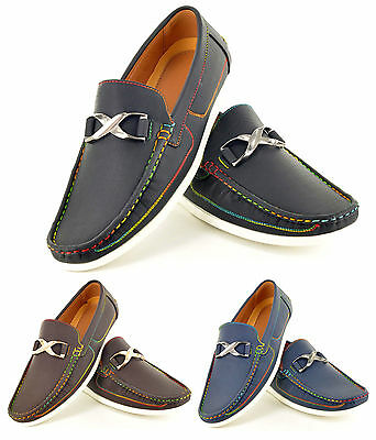 New Mens Designer Casual Loafers Moccasins Slip on Shoes In UK Size 7 8 9 10 11