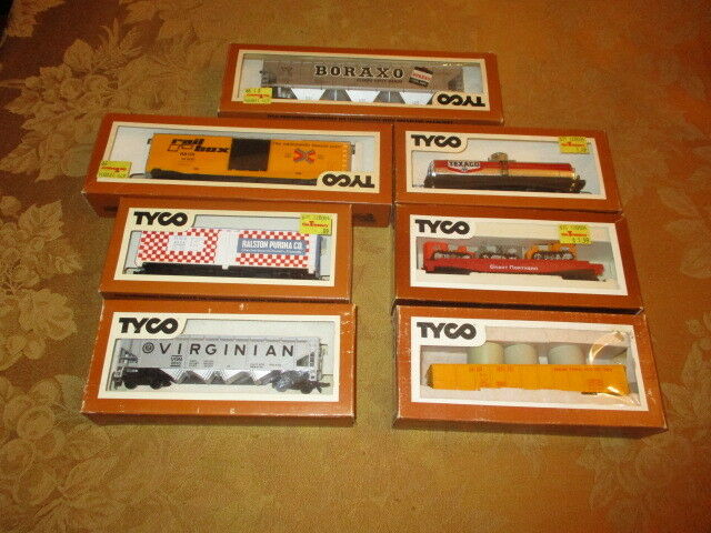 7 Ho Freight Car Boraxo By Tyco Lot H82 PLUS 6 FREIGHT ONES ALL W BOXES MINT