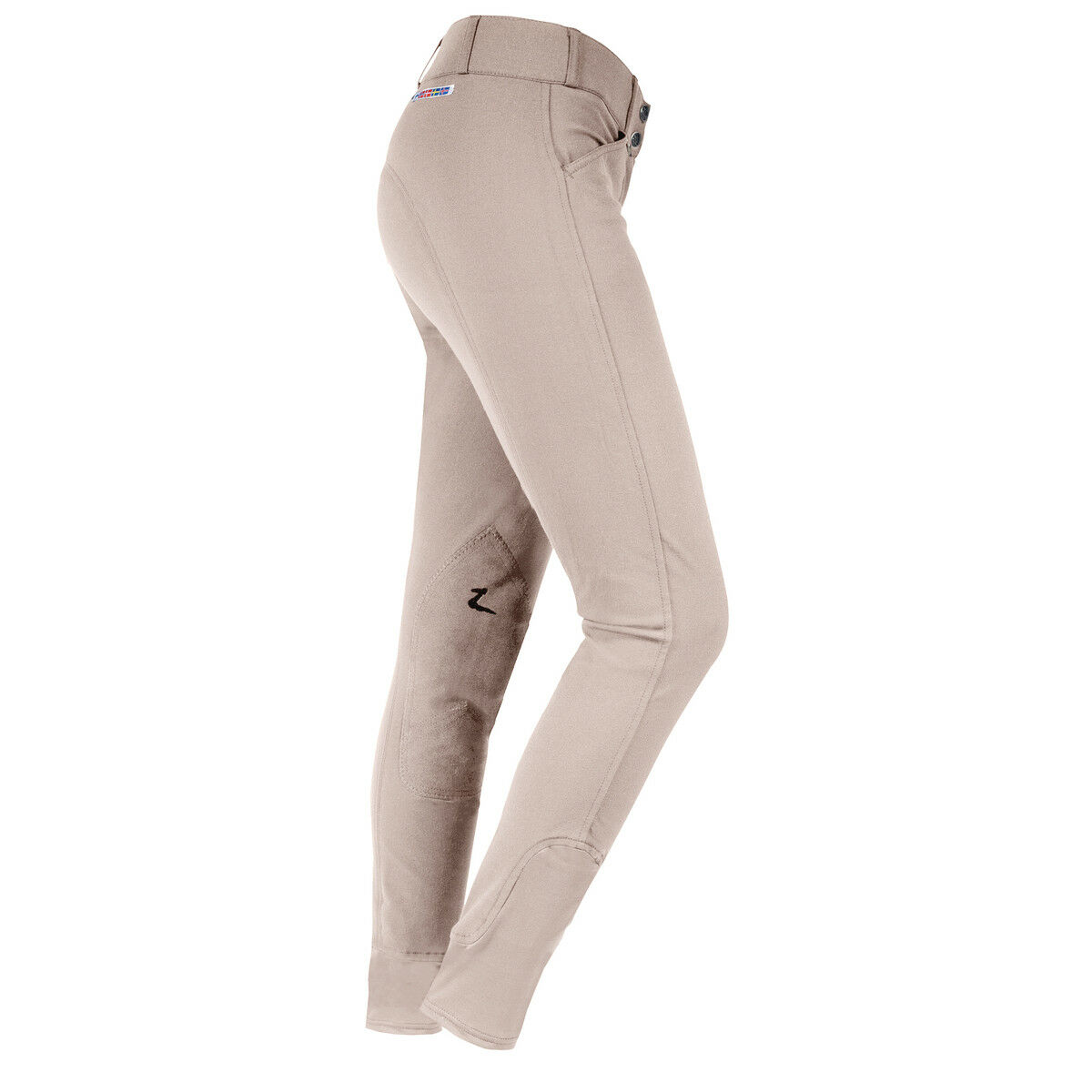 Horze Gre Prix Extend donna equitazione Breeches with Leather Knee Patches