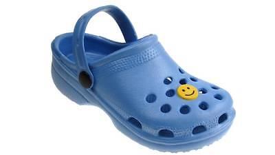 Las chicas, chicos zuecos Beach Summer obstruir Surf Zapatos Luz Azul Uk 4 - 2 Nuevas