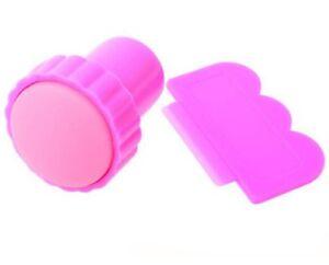 Accessoire-nail-art-tampon-stamping-caoutchouc-et-grattoir-decoration-ongles