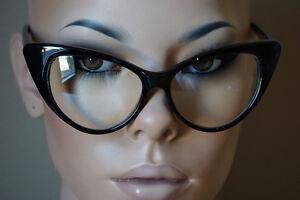 bee212a87d18 Fashion Design Clear Lens Black Cat Eye Frame Women Eyeglasses ...
