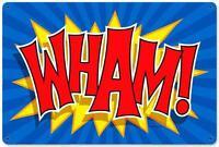 Vintage Retro Comic Book Wham! Batman Metal Sign Unique Gameroom Decor RPC026