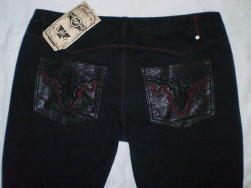 à Taille 35 taille Gallery X droite haute Neuf 44 Jean Denim Jeans Noir jambe Antik qRXnOSw