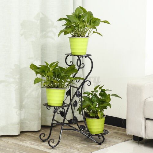 3 Tier Metal Plant Stand Flower Holder Shelf Rack Garden Patio Home In//Outdoor