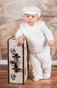 Baby Boy Christening Baptism Formal Smart Suit Outfit ...