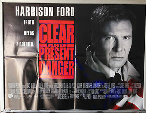 Cinema Poster Clear And Present Danger 1994 Main Quad Harrison Ford Ebay