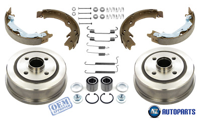 For Opel Corsa C MK2 2000-/> Rear Brake Drums Shoes Bearings Fitting Kit w// ABS