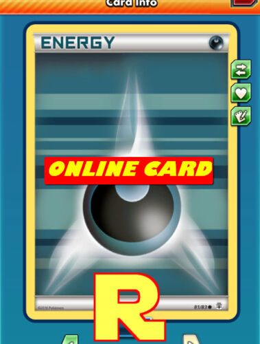 for Pokemon TCG Online 10x Dark Energy ptcgo in Game Card Generations