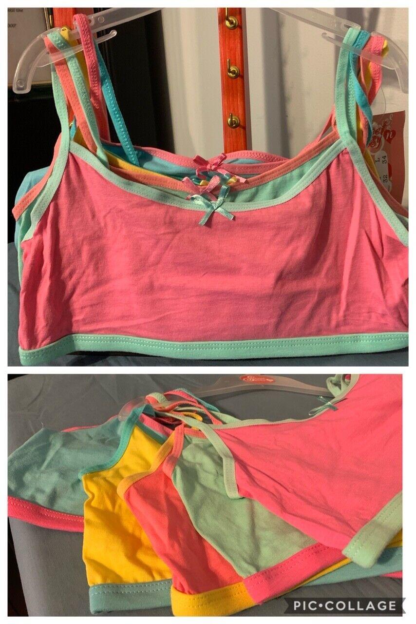 Sweet /& Sassy Girls 10 Pack Cotton and Spandex Crop Training Bra