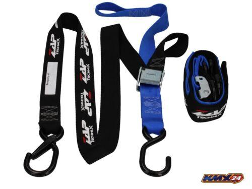 Zap motocicleta de sujeción cinturones Porty 2-parte azul//negro Motocross Enduro Supermoto