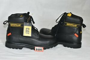 Genuine-Caterpillar-Boots-Leather-Size-10-EU-44-Black